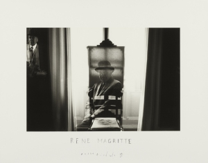 Duane Michals, Magritte at his Easel, 1965. Gelatin silver print. The Henry L. Hillman Fund. Courtesy of Carnegie Museum of Art, Pittsburgh.